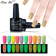 Beau Gel New Charming Glow In The Dark Paint Luminous Nail Polish Fast Dry Fluorescent Colors Nail Varnish Shiny Nail Decoration(China)