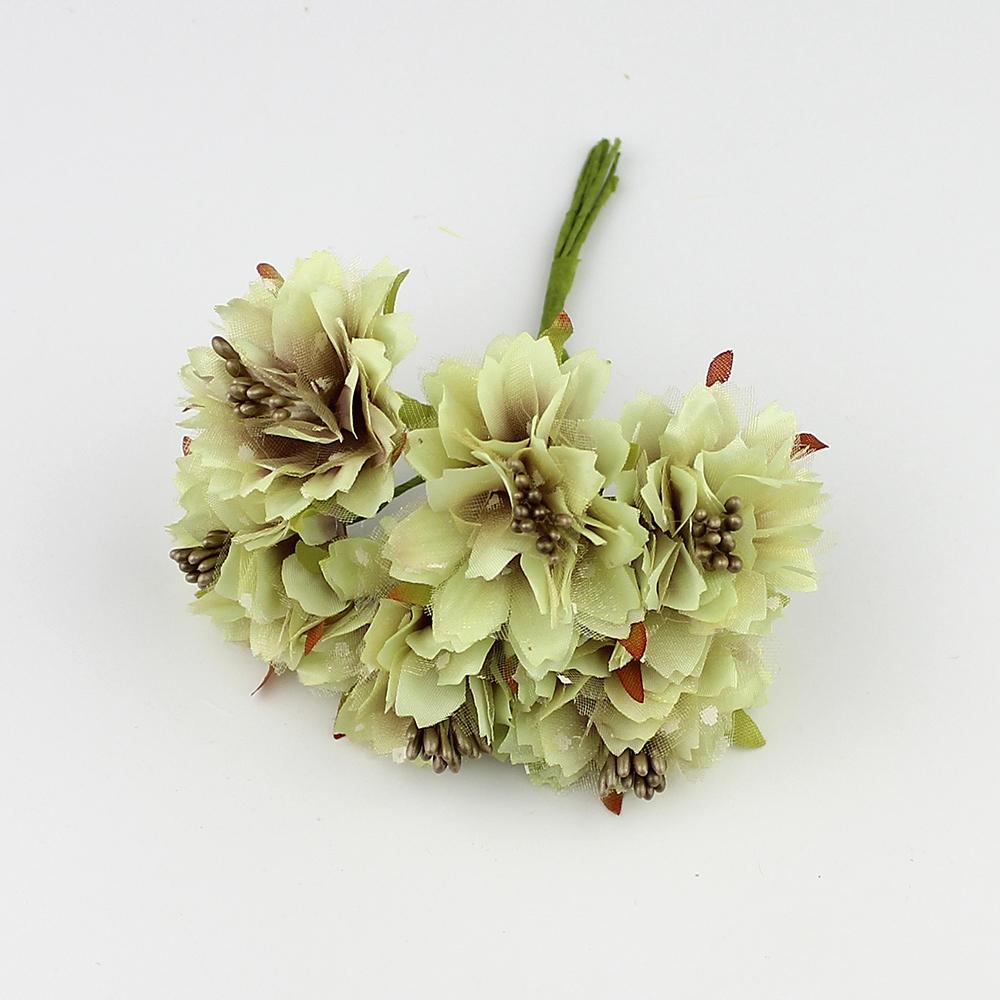 2018 Huadodo 4cm Artificial Carnation Flowers Stamen Silk Flower