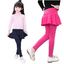 V-TREE Girls leggings new 2018 cotton kids pants for girls TUTU skirt leggings pantskirt children school pants baby trousers(China)