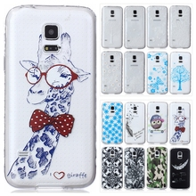 3D Soft TPU Case for Samsung Galaxy S5 Mini S5mini G800 G800F Transparent Silicon Back Cover Cute Bear Flower Phone Cases
