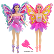 Princess Tinkerbell Dolls Flying Flower Fairy Tail Action Figures Butterfly Doll Model Tinker Bell Gift Fairy Tail Figure Dolls!(China)