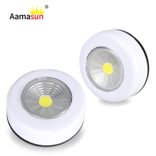 Night Lights Led Wardrobe Lighting Touch Control Sensor PVC Furniture Cupboard Kitchen Cabinet No Battery 3 1.5V AAA Kids Desk()