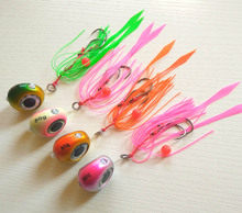 4pcs 135g/100g/80g/60g/40g Snapper/Sea bream Jig head with skirt  lead jig lead fish jigging lure metal fishing lure