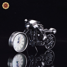 WR Limited Collectible Hottest Mini Model Motorcycle Table Clock Desktop Metal Models Race Car Toy New Year Gift Home Decor(China)