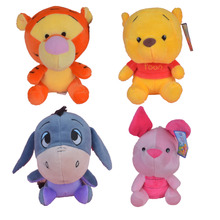 7 Inch Winnie, Tiger, Eeyore & Pigglet Plush Toy, 4 Pcs / Lot Baby Gift Kids Doll with Free Shipping(China)