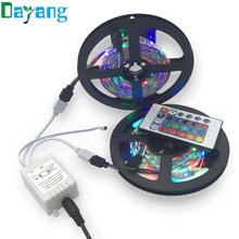 10M LED Strip 3528 RGB Flexible Light Non Waterproof DC 12V 600LEDs(300LEDs/roll*2roll) with 24 Keys IR Remote Controller Kit(China)
