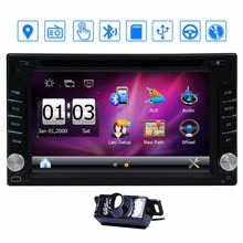 Double 2 din Radio GPS Navigation din Car DVD Player Bluetooth Stereo video Free Camera Car headunit Multimedia Cassette Player(China)
