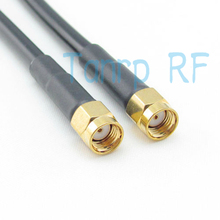 Freeshipping! RF Pigtail jumper coaxial cable  RG58 RP-SMA male plug  to RP-SMA male plug  200CM  6FEET Wholesale