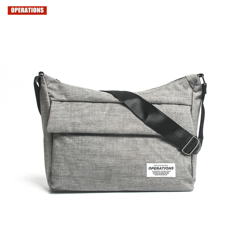 OPERATIONS Fashion Messenger Bag For Men High Quality Shoulder Bags Japan And Korean Style Solid Color Casual Travel Package<br>