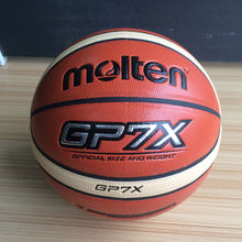 Hot Sale Man Basketball Molten GP7X Basketball Size7 PU Leather Material Sport Jersey Basketball Category 7A With Net Bag Needle(China)