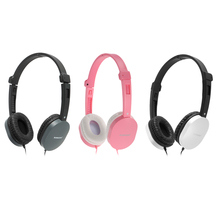 GS-J1 3.5mm Wired Headphone Over-ear Headset Hands-free with Mic for Smart Phones Computers Pink