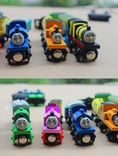 10pcs/set Thomas Train Toys For Children Thomas and Friends Anime Railway Trains Toy Mini Train Wooden Complete Set Of Car Toys
