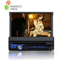 Android 5.1 Lollipop 7 Inch Touchscreen Car Stereo Radio in Dash Single Din Car AVI/DVD/VCD/MP3/CD Player with Backup Camera