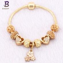 Baopon Новый Известный ювелирный бренд Для женщин браслет 2017 F браслет золотой brazaletes Браслеты Mujer(China)