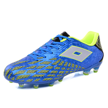2017 Men Soccer Cleats Long Spikes Mens Luminous Outdoor Football Shoes Reflective Blue Red Color FG & HG Boots - Movement Lifestyle Store store