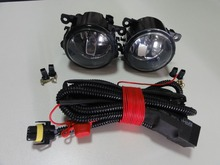 1Set Clear Bumper Driving Fog Lights With Wiring Harness For Mustang Ford Focus Fiesta C-Max