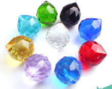 crystal faceted ball 40pcs 10 colors feng shui ball mixed colors 40mm glass for wedding party decoration Event supplies