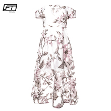 Buy Fitaylor Summer Slash Neck Bodycon Backless Sexy Dress Women Short Sleeve Print Floral Beach Vintage Dress Evning Party Dresses for $15.25 in AliExpress store