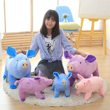Funny Simulation Pig Doll Children Sleeping Appease Doll Kawaii Colorful Pigs Plush Toy For Baby Kids Novelty Creative Gift