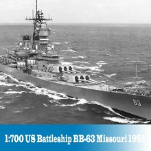 1:700 Scale Assembly Ship Model US Battelship BB-63 Missouri 1991 Static Warhip Building Kits Model DIY