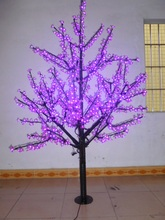 Christmas New year decor New LED Cherry Blossom Tree 1024pcs purple LED Bulbs 1.8m/6ft Height 110/220VAC Rainproof Outdoor Usage