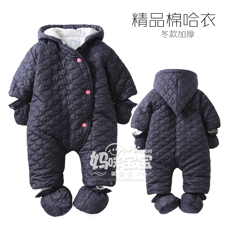 New 2016 autumn winter newborn baby clothes infantil cotton Rompers baby girls / boys warm jumpsuit baby costume<br>