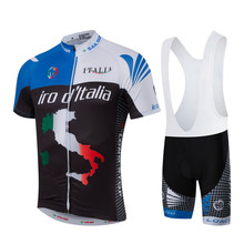HOT Men Blue MTB Cycling Clothing Summer bike Jersey Bib Shorts Black Outdoor Sports Pro team ropa Bicycle Top wear