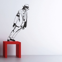 Best Selling 2015 Dancing Michael Jackson Wall Stickers Removable Vinyl wall Decor Wall decals Art Poster DIY Home Decor(China)