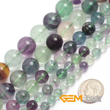Round Natural Fluorite Beads,Selectable Size 2mm,6mm,8mm,10mm,12mm,14mm Fashion Jewelry Beads,For DIY Bracelet,Strand 15 Inches(China)