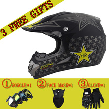Free Shipping & 3 gift new motorcycle helmet mens moto helmet top quality capacete motocross off road motocross helmet DOT(China)