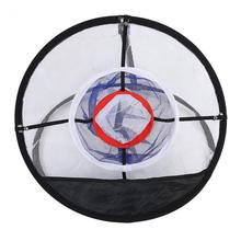 Nylon Mesh Golf Chipping Net Balls Collector Bracket Bag Training For Net Hitting Aid Practice Activity(China)
