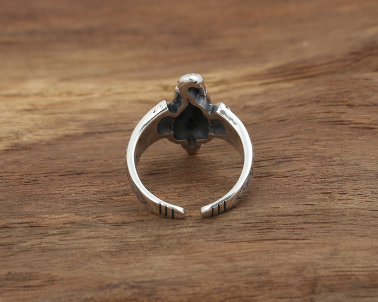Gorgeous 925 Sterling Silver Ganesh Ring back