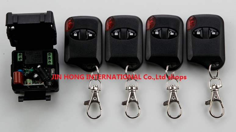 AC220V 1CH Wireless Remote Control Switch System teleswitch 1*Receiver + 4*cat eye Transmitters for Appliances Gate Garage Door<br><br>Aliexpress