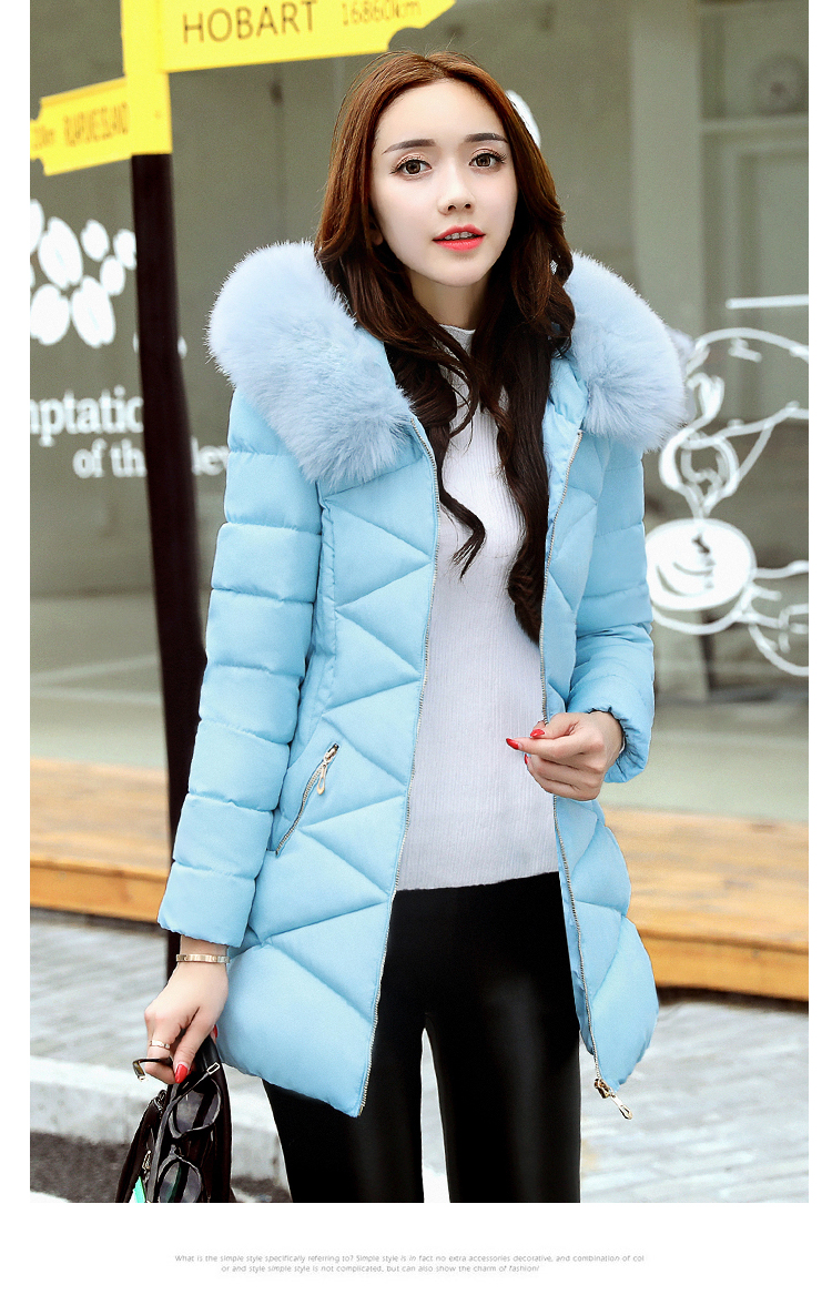APOENGE Winter Long Coats and Jackets Women 2017 Wadded Jacket Hooded Fur Collar Thick Warm Parkas Cotton Padded Outwear QN612