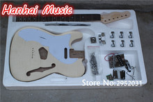High Quality Semi-finished Guitar with Left-hand Guitar Body,Flame Maple Veneer,All Hardware Included,can be Customized