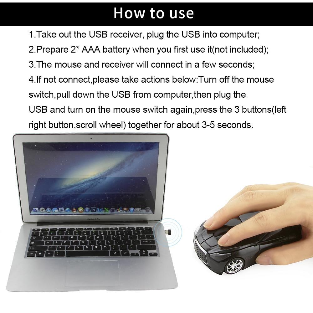 car shape wireless mouse