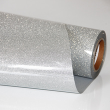 Grey Glitter Holographic Iron-on Heat Transfer Vinyl Press Film For Plotter T-shirts50cm100cm