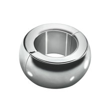 3 size Heavy Duty Magnetic Stainless steel Ball weight Scrotum Stretcher metal penis cock ring delay ejaculation male Sex Toy(China)