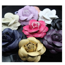 10pcs/lot  Famous Brands Designer Shoes bag leather Flower charms girl kids baby Applique diy clothing shoe Dress Sewing Crafts