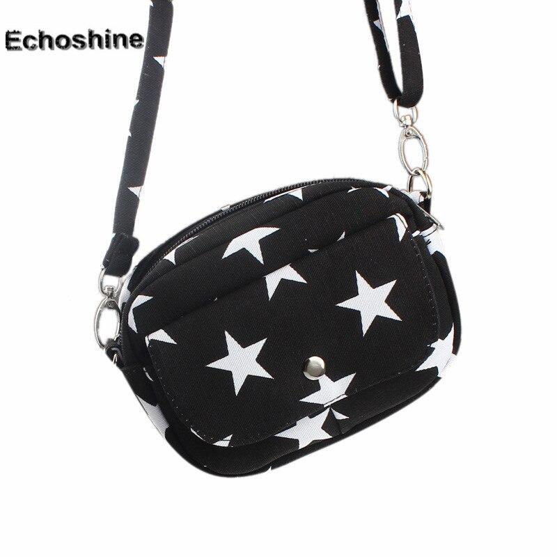 New Women Bag Fashion Canvas Crossbody Shoulder bags Mini Small Messenger Bag Star Printed Handbag famous Brands bags<br><br>Aliexpress