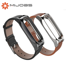 Buy Original Mijobs Xiaomi Mi Band 2 Leather Wrist Band Strap Smart Bracelet Miband 2 Screwless Metal Mi Band 2 Frame for $6.62 in AliExpress store
