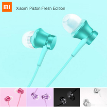 New Original Xiaomi Piston In-Ear Stereo Earphone With Remote Mic Music Mi Headsets For Xiaomi PC Mp3 Player fone de ouvido PC(China)