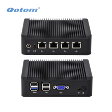 Fanless Mini PC with Bay trail j1900 processor, quad core 2.42 GHz, X86 4 LAN Mini PC PFSense