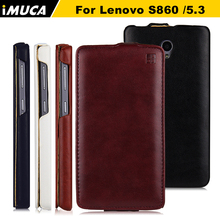 for lenovo s860 cases vertical leather cover for Lenovo S860 S 860 Flip leather case cover IMUCA brand mobile Phone Accesssories