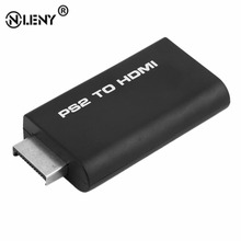 ONLENY Premium Version For PS2 To HDMI Video Converter Adapter Practical For PS2 Ypbpr USB/5V Input HDMI Audio Output Black