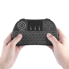 TZ P9 2.4Ghz Wireless Mini QWERTY Keyboard Touchpad Air mouse with Backlight Function and Lithium-ion Battery for TV BOX Mini PC