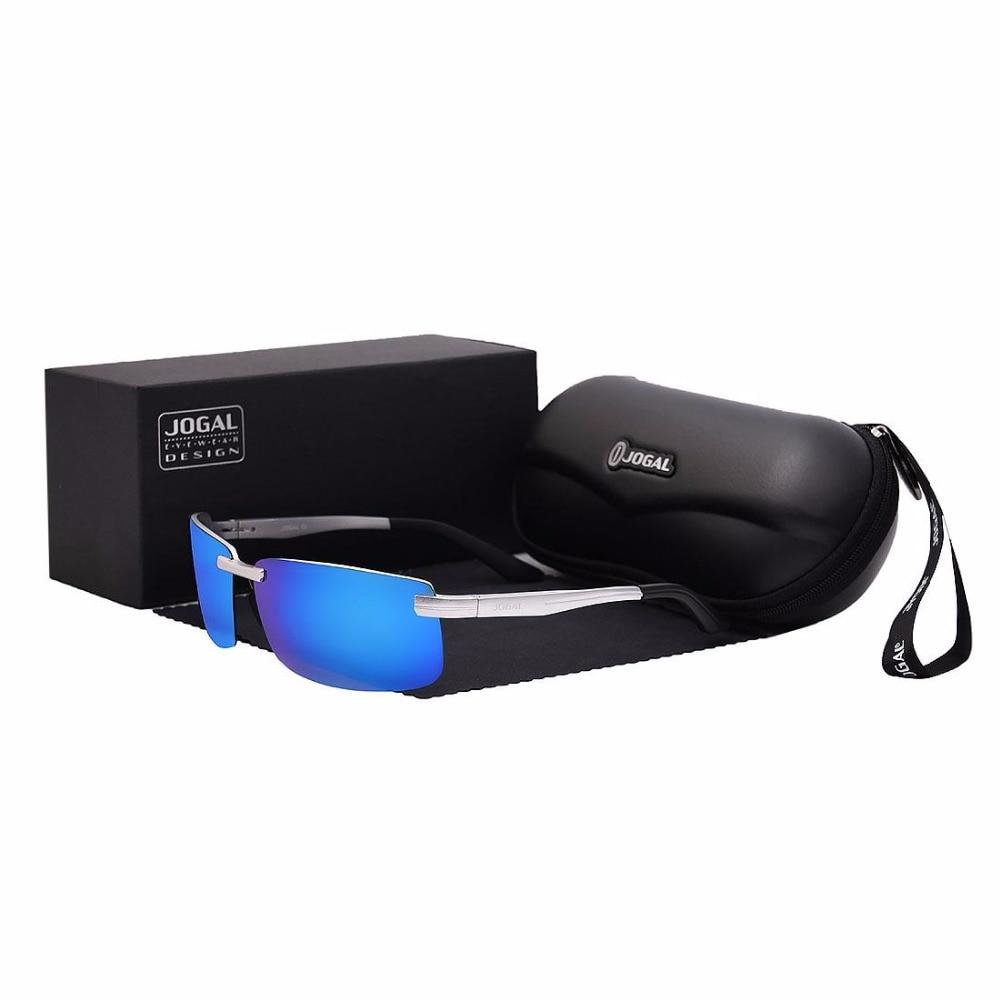 JOGAL Polarized Rimless Sunglasses Mens Outdoor Sports Driving Glasses Male Eyewear UV400 6001<br><br>Aliexpress