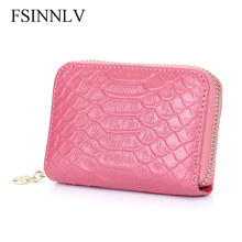 Buy FSINNLV Genuine Leather Unisex ID Card Holder 5 Colors Card Wallet Credit Card Business Card Holder Protector Organizer DC170 for $15.73 in AliExpress store