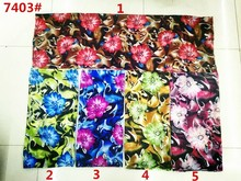 150cm width printed soft chiffon fabric flowers pattern for scarf and headband LS-J7403
