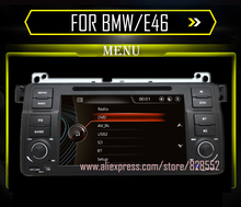 Capacitive Screen! 7 Inch Car DVD Player For BMW/E46 With Canbus Radio GPS Navigation Bluetooth 1080P 3G Ipod Map